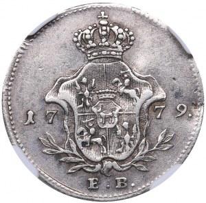 Poland Ducat 1779 EB NGC XF Details