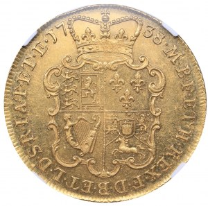 Great Britain 2 guineas 1738 NGC MS 64+