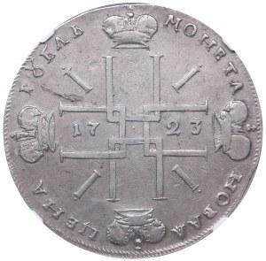 Russia Rouble 1723 ОК NGC XF 40