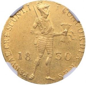 Russia Ducat 1830 - Russian imitation of Netherlands gold ducat NGC AU 58