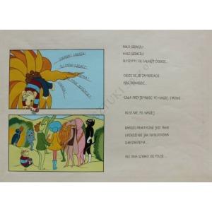 """Grażyna Dłużniewska, Ilustracje do komiksu """"Trzynaste piórko Eufemii"""" Macieja Wojtyszki (1977) - 10 plansz"""
