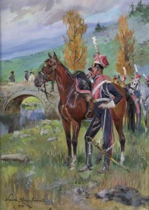 Kossak Wojciech, SZWOLEŻER GWARDII POLSKIEJ POD SOMOSIERRĄ, 1907