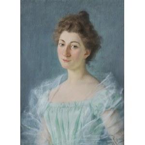 Reyzner Mieczysław, PORTRET LWOWIANKI, PANNY MARII C., 1899