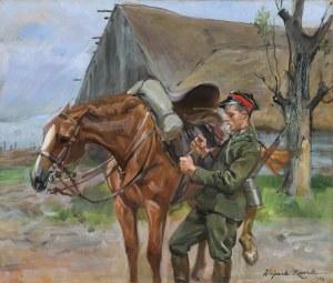 Kossak Wojciech, UŁAN Z KONIEM, 1932