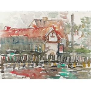 JAN CYBIS (1897-1972), Łeba nad kanałem, 1968