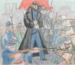 Jan SZANCENBACH (1928-1998), Na barykadach Paryża 1877