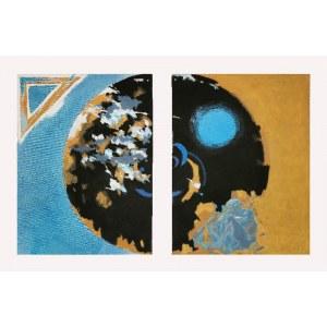 Jacek WALTOŚ (ur. 1938), Empedokles u krateru Etny - dyptyk, V [mała geometria], 2009