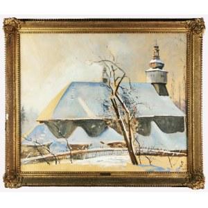 Julian FAŁAT (1853-1929), Kościół w śniegu, 1909