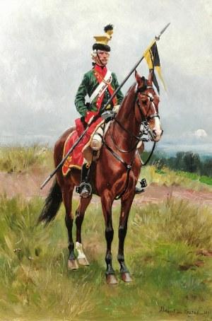Wojciech KOSSAK (1856-1942), Ułan spod Savony [Żołnierz 1. pułku Ułanów Austriackich], 1891