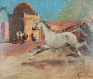Wojciech KOSSAK (1856-1942), Arab - Rozpędzony koń, 1936