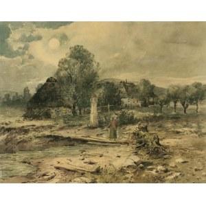 Seweryn BIESZCZAD (1852-1923), Przydrożna kapliczka