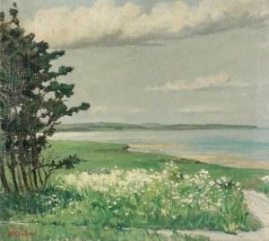 Włodzimierz NAŁĘCZ (1865-1946), Pejzaż wiosenny - Nad zatoką