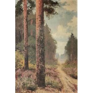 Wiktor KORECKI (1890-1980), Leśna droga z wrzosami