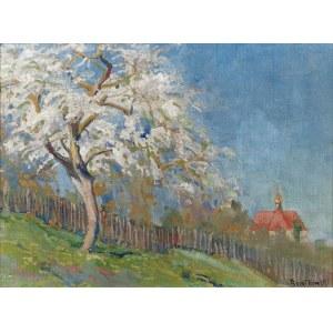 Roman BRATKOWSKI (1869-1954), Pejzaż z kwitnącym drzewem