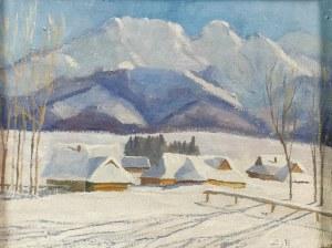 Zbigniew PRONASZKO (1885-1958) - ?, Chaty u podnóża gór