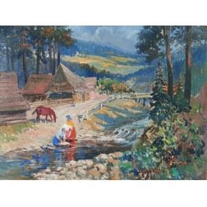 Jerzy POTRZEBOWSKI (1921-1974), Kobiety nad rzeką