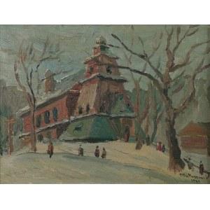Edward MATUSZCZAK (1906-1965), Podhalański kościółek, 1947