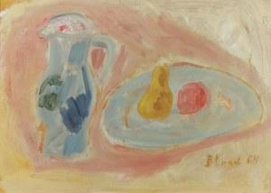 Maurice (Blumenkranc) BLOND (1899-1974), Martwa natura z gruszką i jabłkiem, 1964
