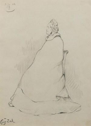 Eugeniusz ZAK (1884-1826), Siedząca kobieta, 1902