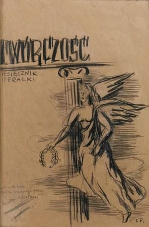 """Kazimierz PODSADECKI (1904-1970), Projekt okładki miesięcznika """"TWÓRCZOŚĆ"""""""