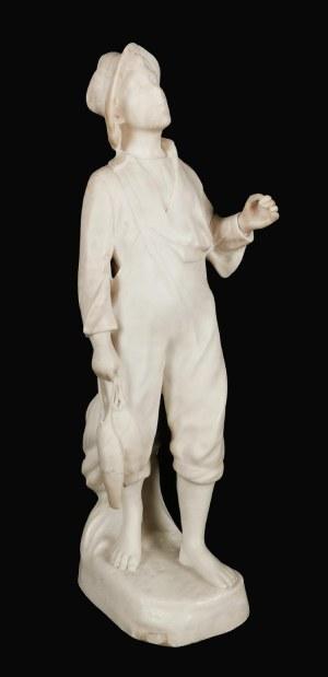 Richard AURILI (1834 - ok. 1914), Chłopiec z rybami