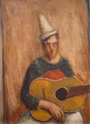 Jerzy Nowosielski (1923 Kraków - 2011 tamże), Portret mężczyzny z gitarą, 1945