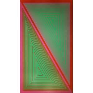 Richard Anuszkiewicz (1930, Erie, Pensylwania - 2020, Englewood), Triangulated Green, 1977