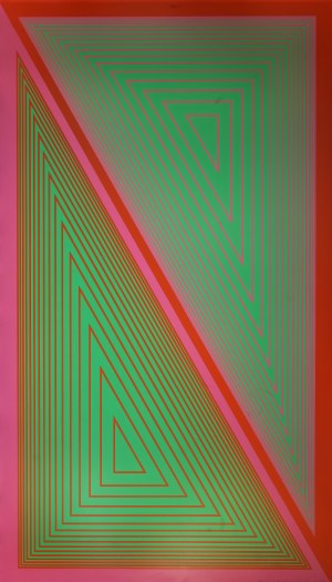 Richard Anuszkiewicz (1930, Erie, Pensylwania - 2020, Englewood), Triangulated Green, 1977