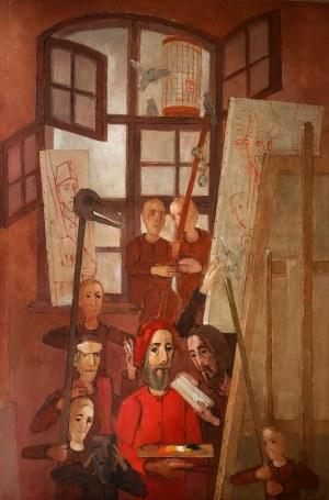 Kiejstut Bereźnicki (ur. 1935 Poznań), Wnętrze z postaciami - Reszel, 1991 - 1992