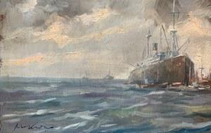 Marian Mokwa (1889 - 1987), pejzaż portowy