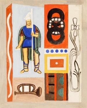 Marek WŁODARSKI, Kompozycja ze św. Florianem, 1927