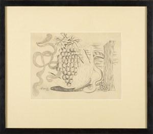 Marek WŁODARSKI (1898 - 1960), Martwa natura z winogronami, 1930