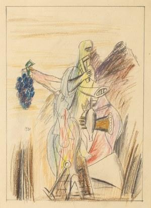 Marek WŁODARSKI (1898 - 1960), Ludzie w górach wieczorem, 1931