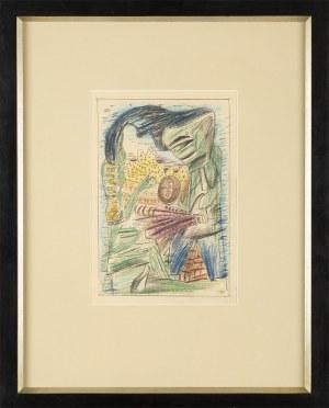 Marek WŁODARSKI (1898 - 1960), Para z bukietem piór, 1931