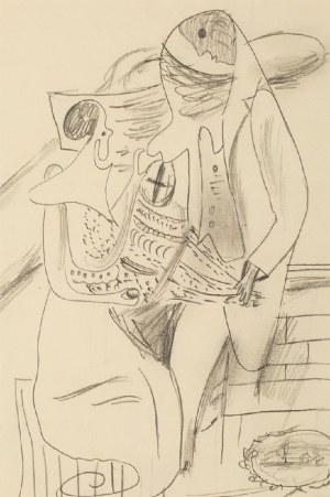 Marek WŁODARSKI (1898 - 1960), Para z bukietem, ok 1930