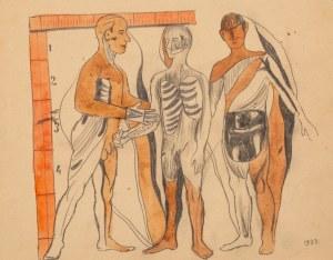 Marek WŁODARSKI (1898 - 1960), Rysunek anatomiczny, 1933