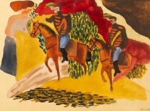 Marek WŁODARSKI, Dwaj jeźdźcy (Pożegnanie żołnierzy), 1931