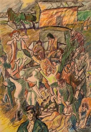 Marek WŁODARSKI (1898 - 1960), Łapanka, 1945