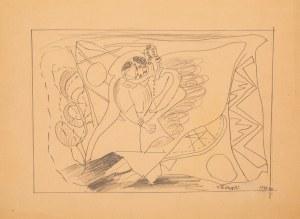 Marek WŁODARSKI (1898 - 1960), Para w fantastycznym pejzażu, 1931