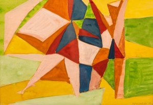 Marek WŁODARSKI (1898 - 1960), Kompozycja z zielenią, 1948