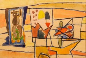 Marek WŁODARSKI (1898 - 1960), Demonstracja obrazów, szkic II, 1948