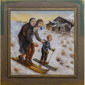 Dariusz Miliński, Rodzina na nartach, 2020