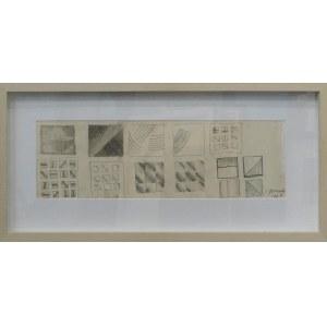 Stefan Gierowski, bez tytułu, szkice do obrazów, 1961
