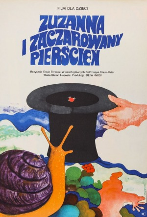 Jacek NEUGEBAUER, Plakat do filmu ZUZANNA I ZACZAROWANY PIERŚCIEŃ, 1973