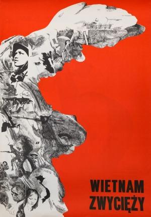 Andrzej STRUMIŁŁO, Plakat WIETNAM ZWYCIĘŻY, 1969