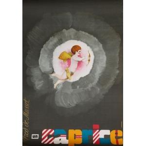Maciej URBANIEC, Plakat do sztuki: ALFRED DE MUSSET, UN CAPRICE, 1968