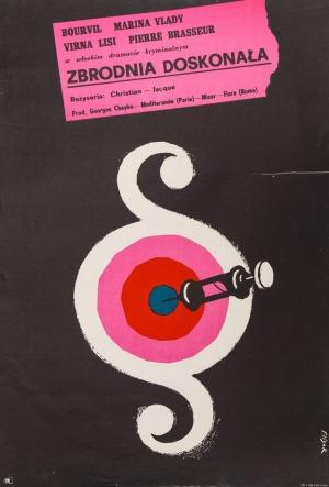 Jerzy FLISAK, Plakat do filmu ZBRODNIA DOSKONAŁA, 1962