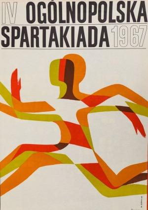 Wiktor GÓRKA, Plakat IV OGÓLNOPOLSKA SPARTAKIADA, 1967