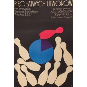 Jerzy TREUTLER, Plakat do filmu PIĘĆ ŁATWYCH UTWORÓW, 1974