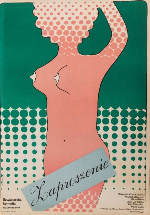 Jacek NEUGEBAUER, Plakat do filmu ZAPROSZENIE, 1974